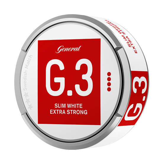 General G.3 Extra Stark Slim White Portionssnus