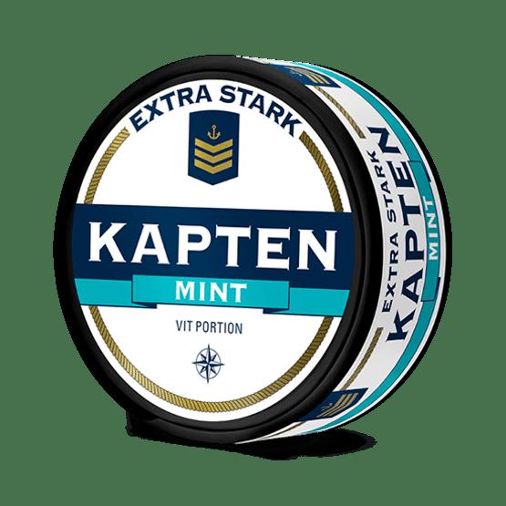Kapten Vit Mint Extra Stark Portionssnus