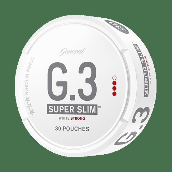 General G.3 Super Slim White Strong Portionssnus