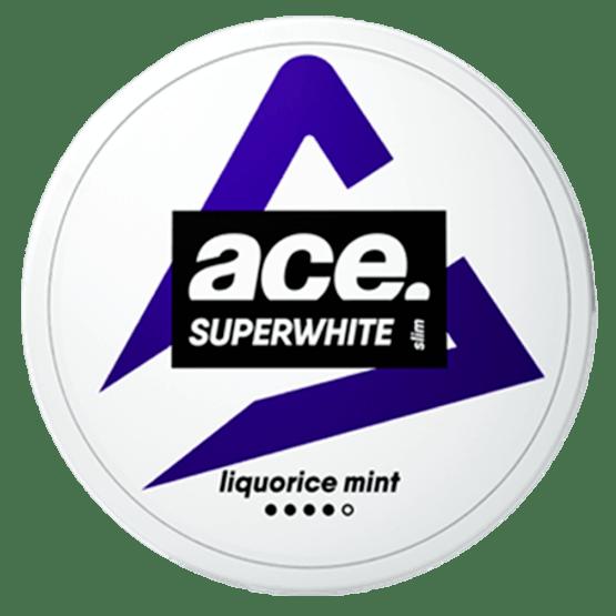Ace Liquorice Mint All White Portion