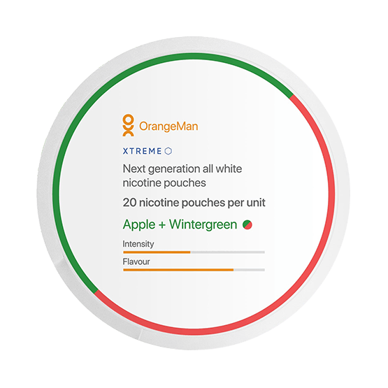OrangeMan Apple Wintergreen Extra Strong Slim