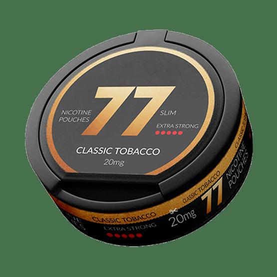 77 Classic Tobacco Slim All White Portion 20Mg